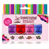 Piggy Paint 100% Non-Toxic Girls Nail Polish - Safe, Chemical Free Low Odor for Kids, Scented 4 Polish Set