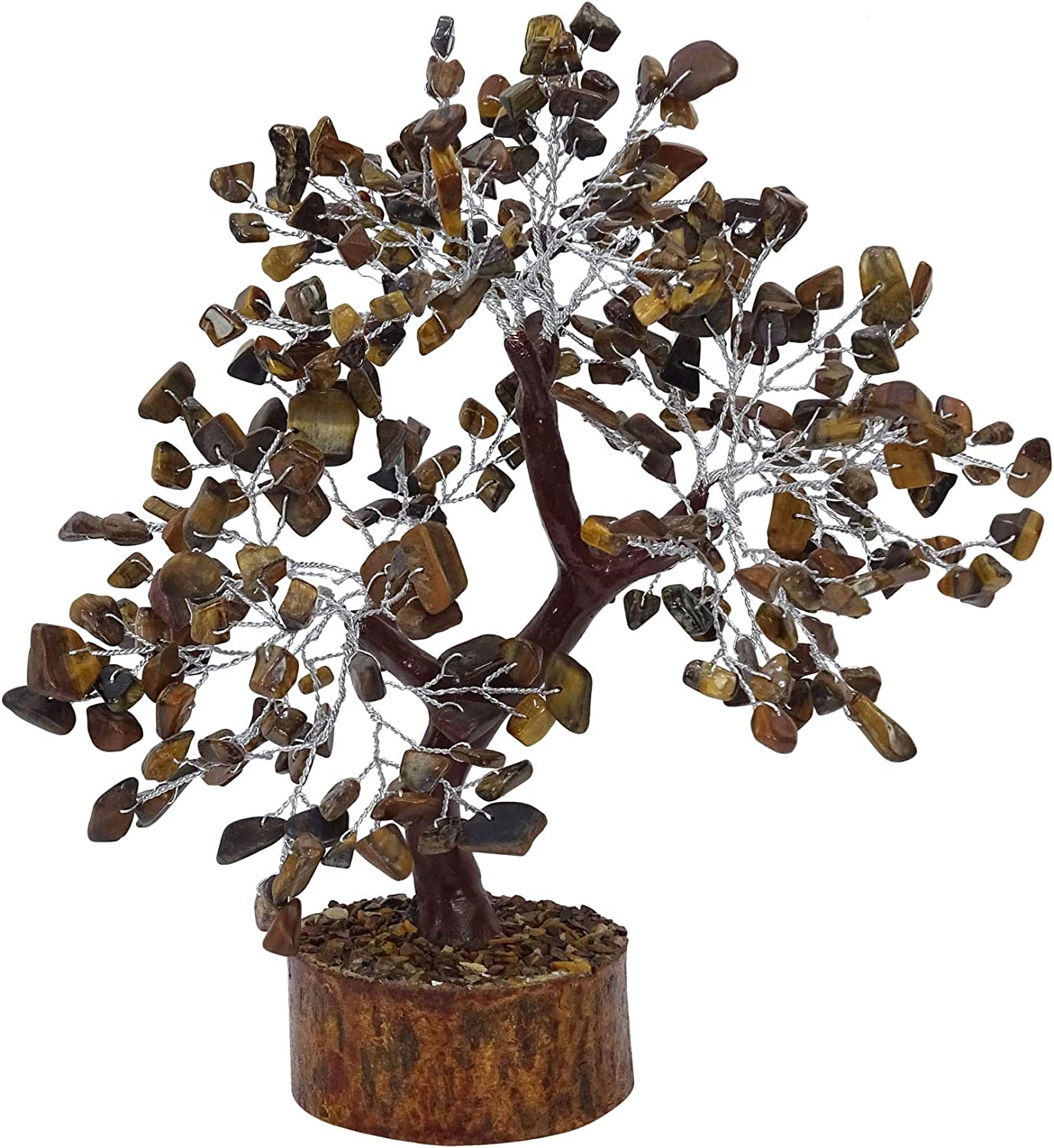 Amazon Com Harmonize Tiger Eye Gemstone Natural Reiki Healing Bonsai Tree Spiritual Gift Home Kitchen