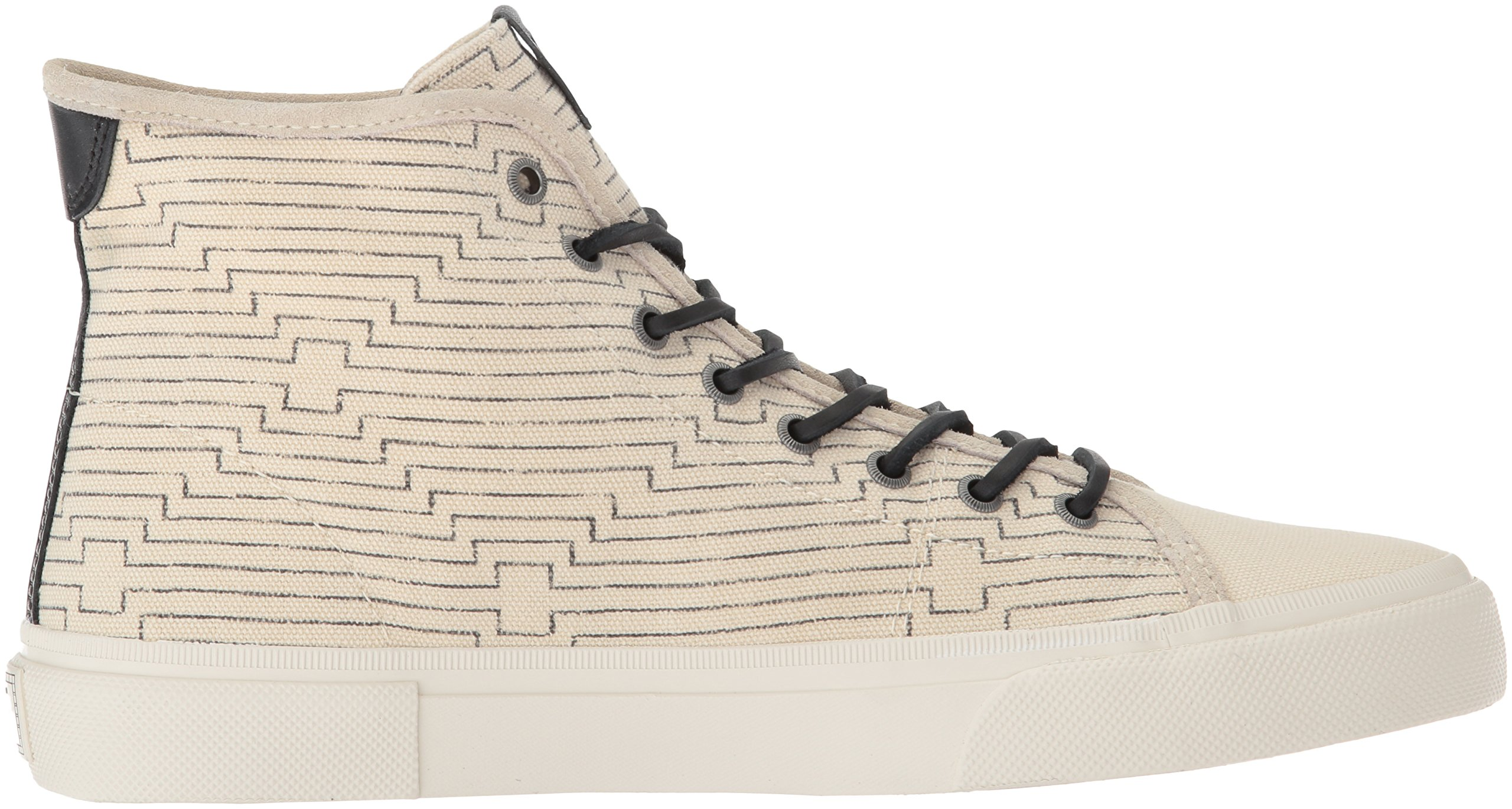 FRYE Men's Ludlow High Canvas Print Sneaker, Off White, 8.5 Medium US by FRYE (Image #6)