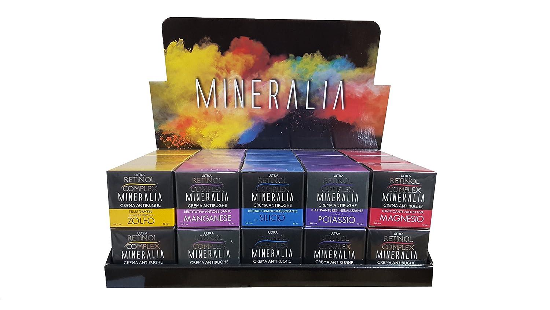 Crema Viso Antirughe novedad 2016 Linea Mineralia expositor con 30 Creme 6 x (potassio-magnesio-zolfo-manganese-silicio): Amazon.es: Belleza