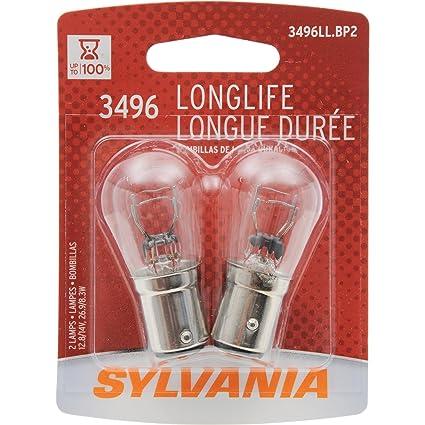 Amazon.com: SYLVANIA 3496 Long Life Miniature Bulb, (Contains 2 Bulbs): Automotive