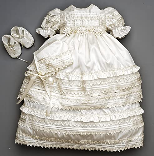 da4421b98 Beautiful Baby Girl Christening Gown Burbvus G002 | Baptism Heirloom ...
