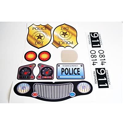 The Toy Restore Replacement Decals Fits Little Tikes Cozy Coupe II Police Badge Black: Toys & Games