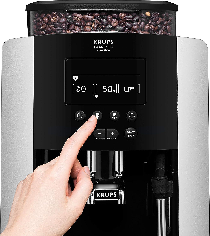Krups EA817810 Independiente Totalmente automática Máquina espresso 1.7L 2tazas Negro, Plata - Cafetera (Independiente, Máquina espresso, 1,7 L, Molinillo integrado, 1450 W, Negro, Plata): Amazon.es: Hogar