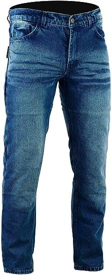 Marr/ón chino Bikers Gear Australia limitada estilo moderno con forro de Kevlar moto jeans CE protecci/ón tama/ño 42S