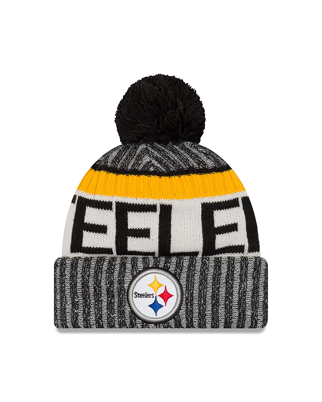 Amazon.com   New Era Pittsburgh Steelers 2017 On-Field Sport Knit Beanie  Hat Cap   Sports   Outdoors 61bb39aaa