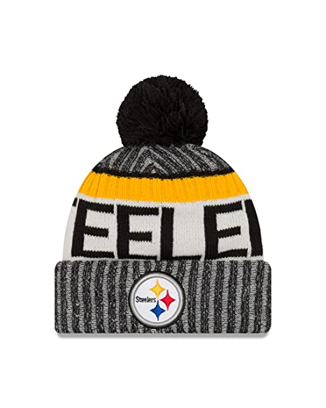 5bcf49a36e7f5e Image Unavailable. Image not available for. Color: New Era Pittsburgh  Steelers 2017 On-Field Sport Knit Beanie Hat/Cap