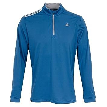 Adidas 3 Stripes French Terry BC2348 Chaqueta con Cremallera de Golf, Hombre, Azul, L: Amazon.es: Deportes y aire libre