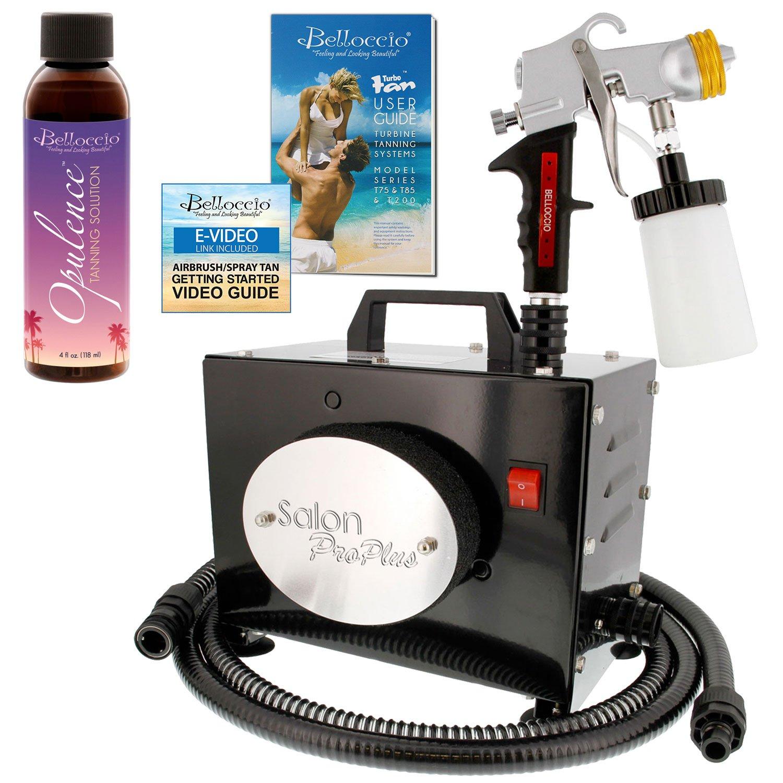 Belloccio Salon Pro Plus T200-11, 2 Stage Turbine Sunless HVLP Spray Tanning System; Free 4 oz. Belloccio Opulence Tanning Solution & Video Link