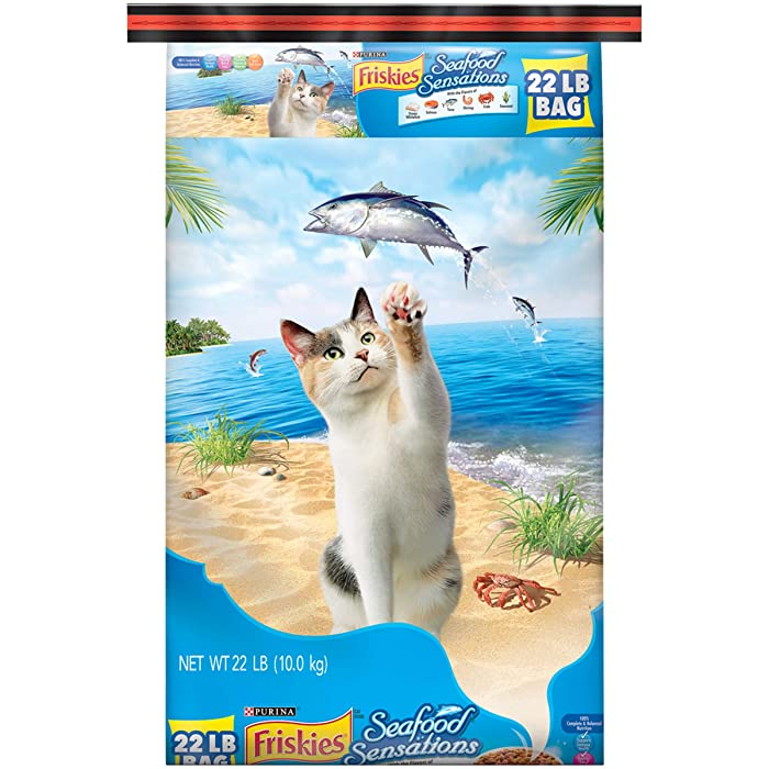 Purina Friskies Seafood Sensations Adult Dry Cat Food