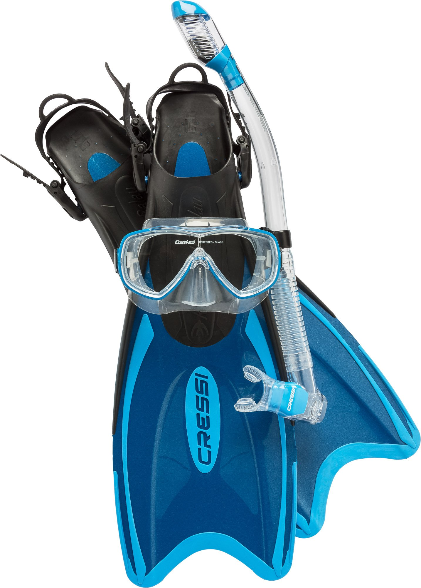 Cressi Palau LAF Set, blue, M/L by Cressi
