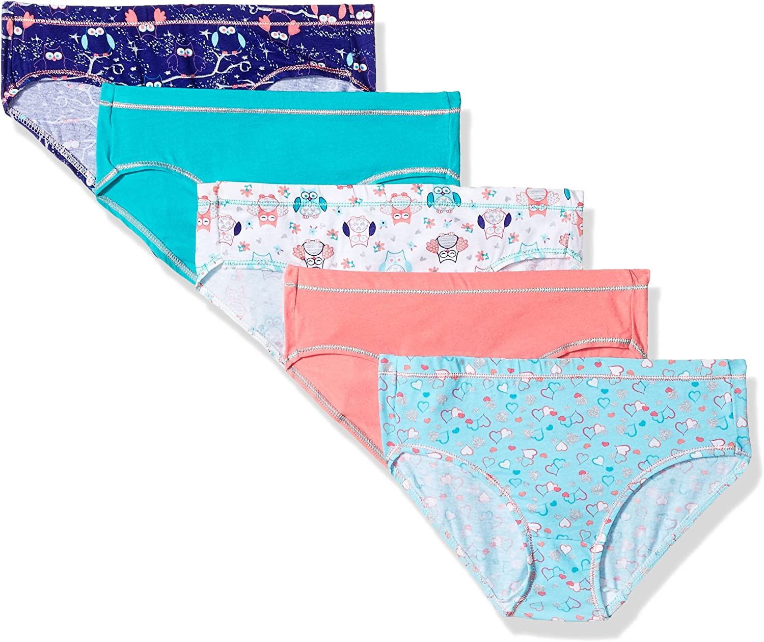 Hanes Girls Cotton Stretch Hipster 4 Pack
