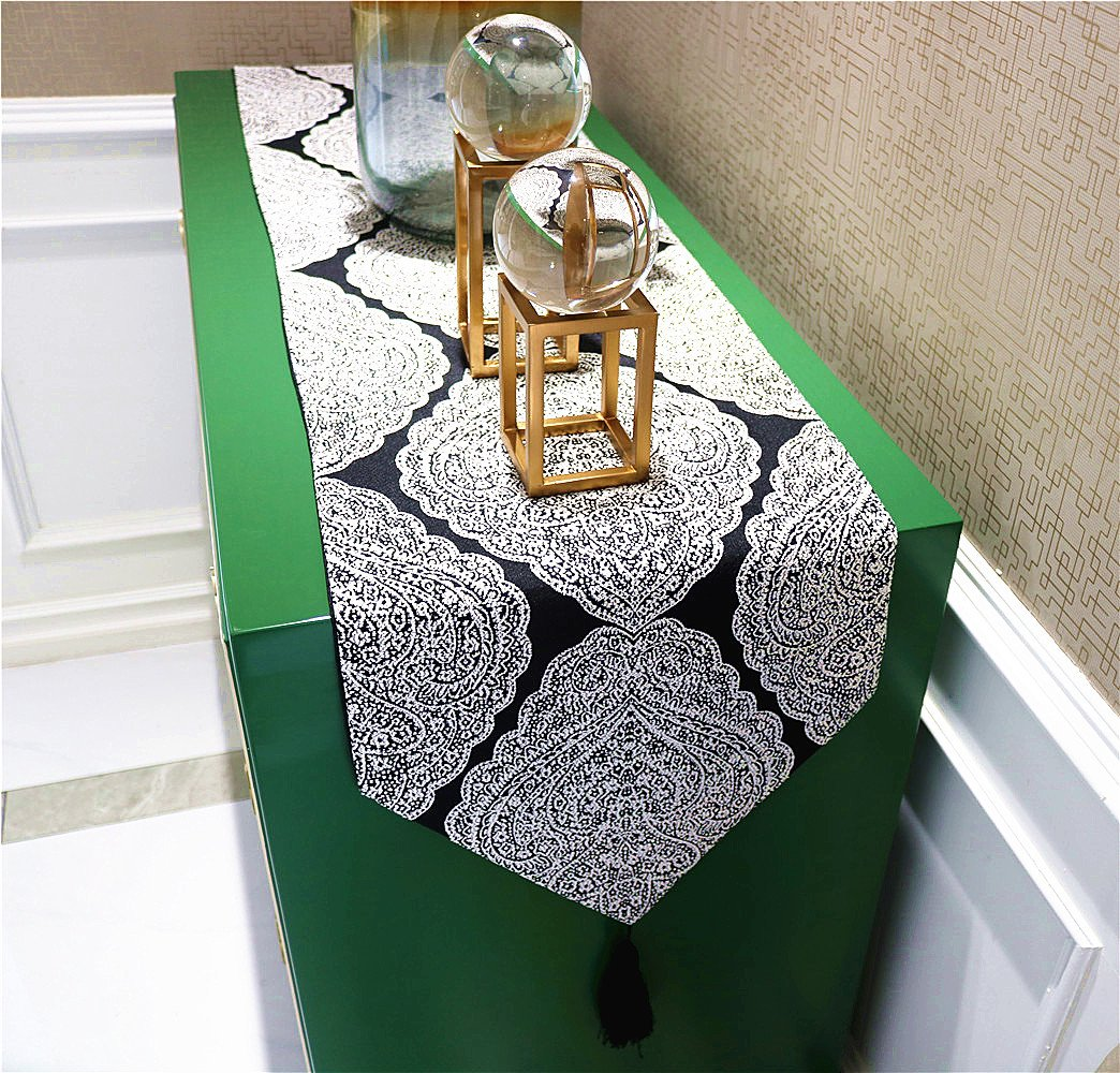 NikiCains Thickly Handmake Table Runner Classic Home Decoration Accessories with Tassel Decor Beige 13x 96 /… NKCZQDBHBE96UA