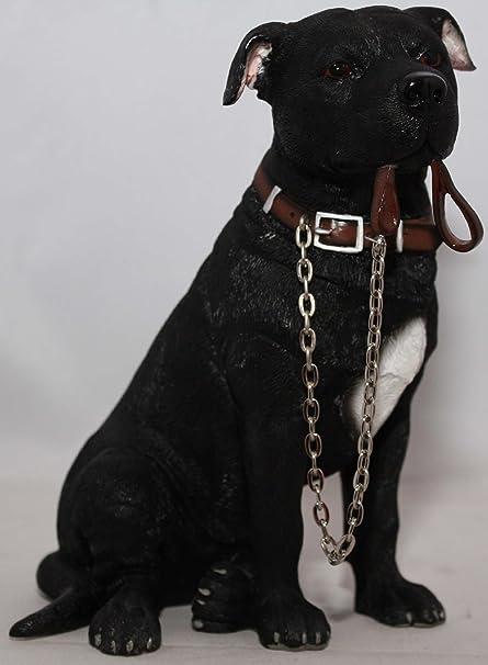 White Staffordshire Bull Terrier Staffie Staffy Ornament Leonardo