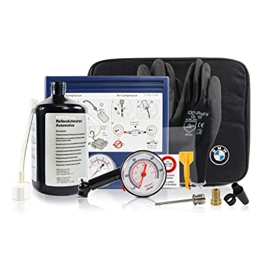 Tire Mobility Kit 71102333674 OEM - Flat Tire Sealant Repair Set Including Air Compressor, Universal Adapter and Other Supporting Tools, for All BMW Models: Automotive