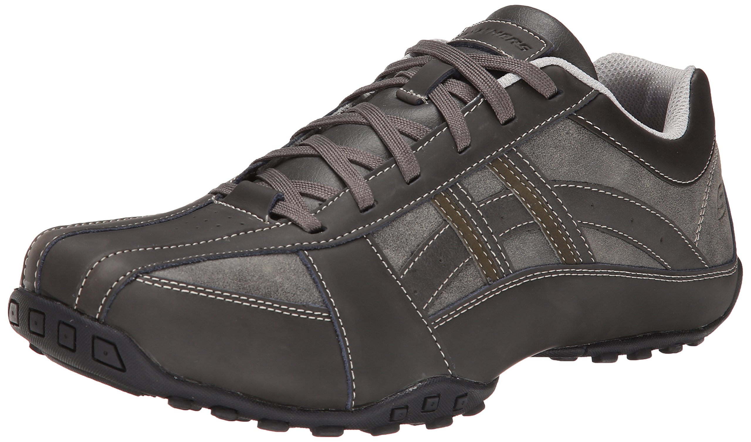 Skechers USA Men's Citywalk Malton Oxford Sneaker,Charcoal,11 M US by Skechers