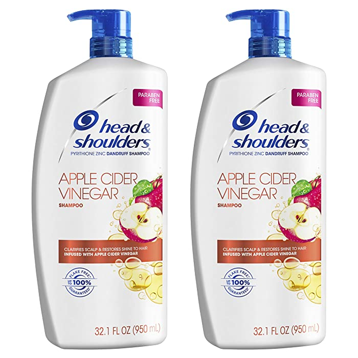 Head & Shoulders Dandruff Shampoo To Clarify Scalp Infused with Apple Cider Vinegar, 2 Count