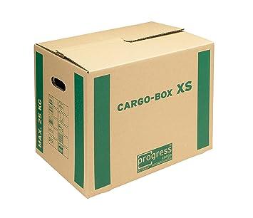 progressCARGO PC CB01.01 - Caja de embalaje (Eco, 1 ondulación, 455 x 345 x 380 mm, 10 unidades), color marrón: Amazon.es: Oficina y papelería