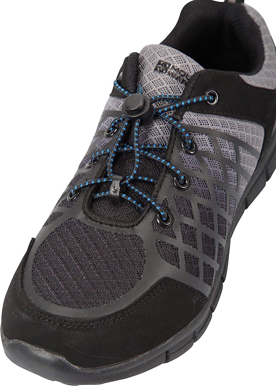 Hiking Hook /& Loop Fastening Childrens Sneakers EVA Cushioned -for Walking Lightweight Girls Shoes Mountain Warehouse Shadow Kids Trainers Mesh Upper Boys Footwear