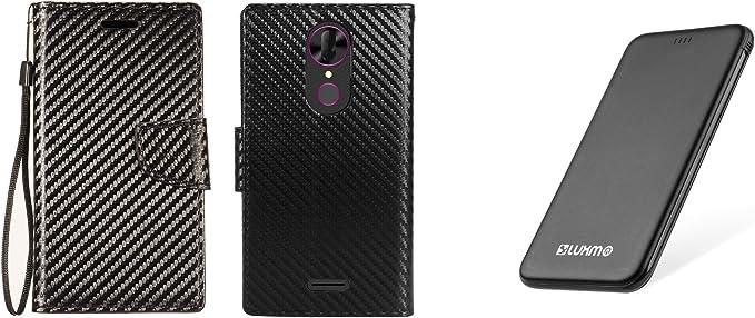 T-Mobile revvl Plus – Set de Accesorios: Piel sintética Cartera de ...