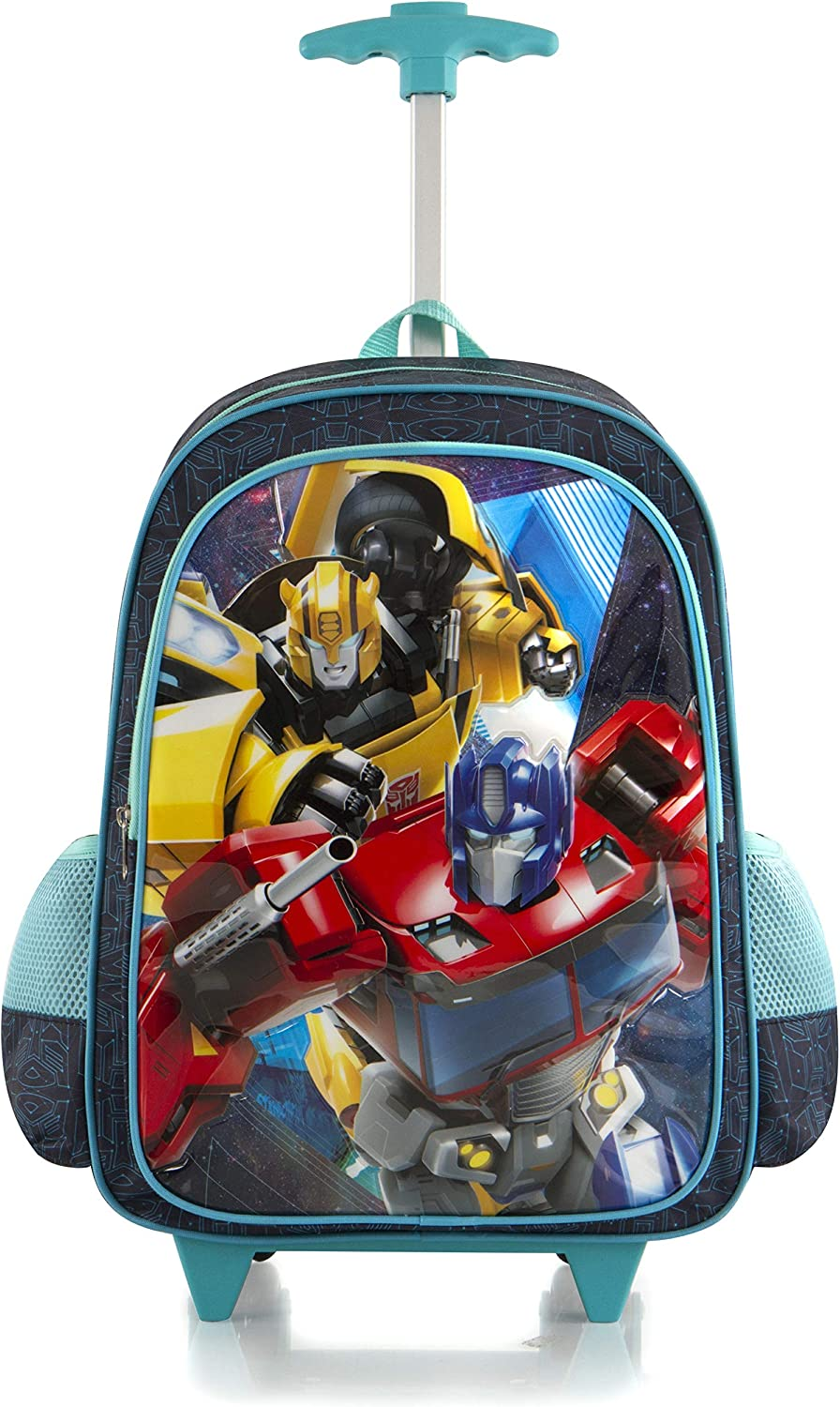 Superheroes Transformers 16 Softside Rolling Luggage Wheeled Backpack