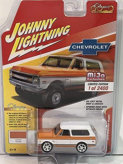 1970 CHEVROLET BLAZER ORANGE /& WHITE 1//64 DIECAST CAR JOHNNY LIGHTNING JLCP7312