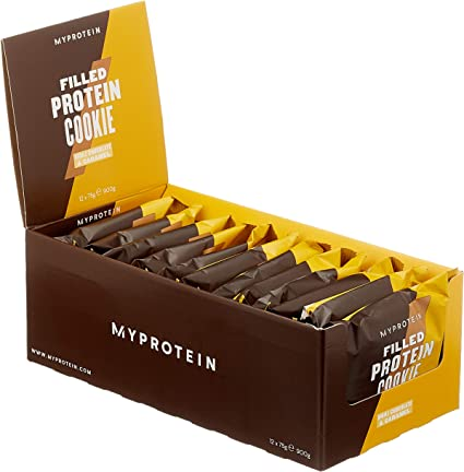 My Protein Filled Cookie Double Chocolate & Caramel 12 x 75g: Amazon.de: Drogerie & Körperpflege