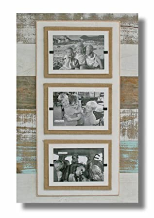 Amazoncom Beach Frames Reclaimed Wood 3 4 X 6 Burlap Picture