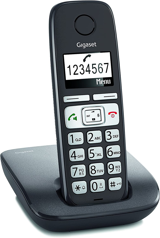 Gigaset E260 - Teléfono (Teléfono DECT, Terminal inalámbrico, Altavoz, 120 entradas, Identificador de Llamadas, Antracita): Amazon.es: Electrónica