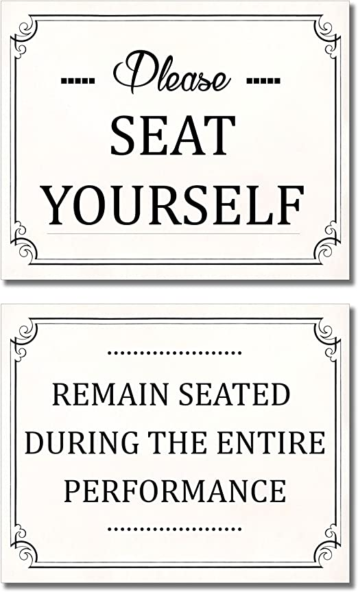 Please Seat Yourself Funny Bathroom Print Graphic Print Frames and Posters