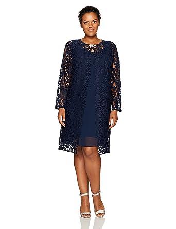 Chetta B Womens Plus Size Lace Jacket Dress At Amazon Womens