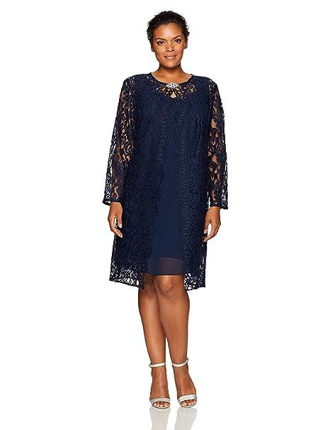 Chetta B Women\'s Size Lace Jacket Dress Plus