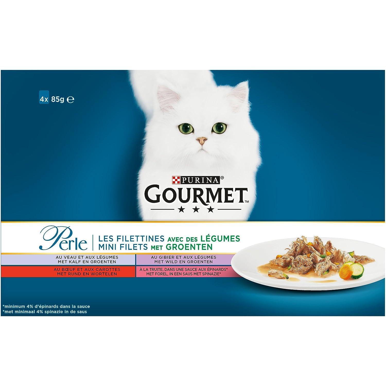 GOURMET Perle repas para Gato Adulto 4 x 85 g Talla & Saveur Elegir - Lote de 12 (48 Bolsas fraîcheurs fraîcheurs): Amazon.es: Productos para mascotas