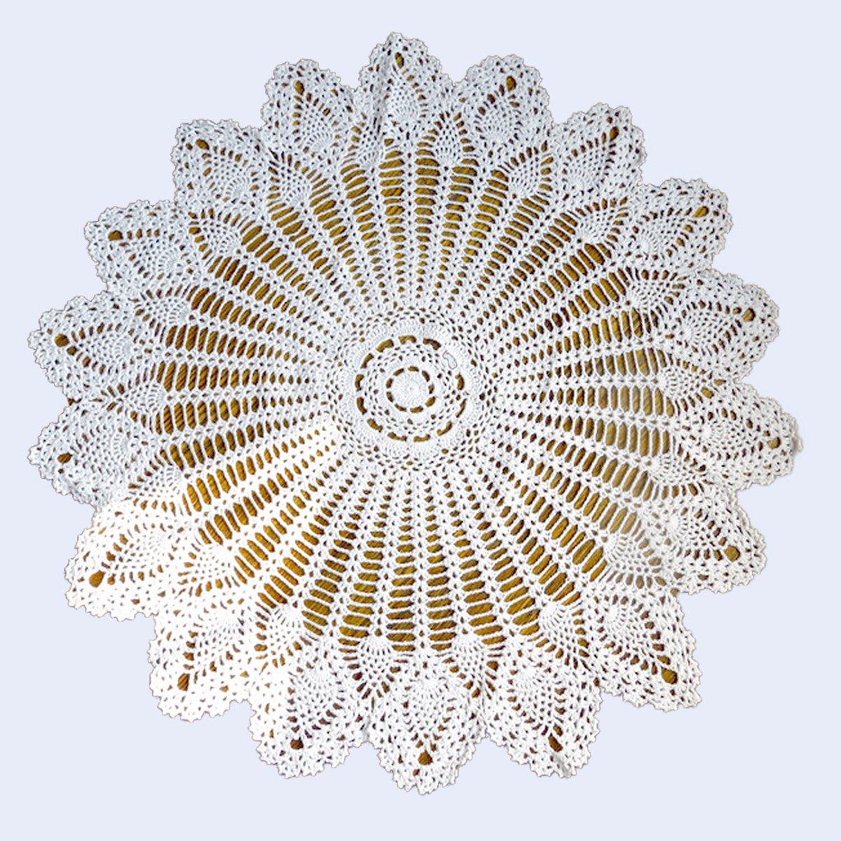 youmehome hecho a mano Crochet encaje Vintage estilo piña patrón ...