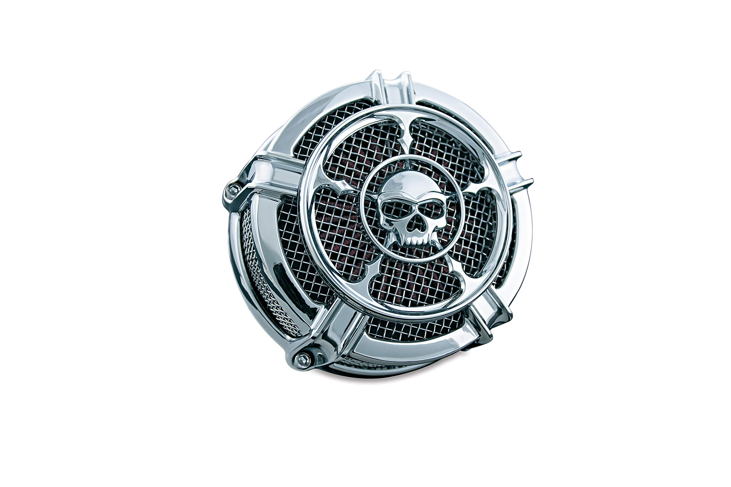 Kuryakyn 9458 Mach 2 Zombie Air Cleaner/Filter Kit for 1999-2017 Harley-Davidson Twin Cam, Delphi EFI Motorcycles, Chrome