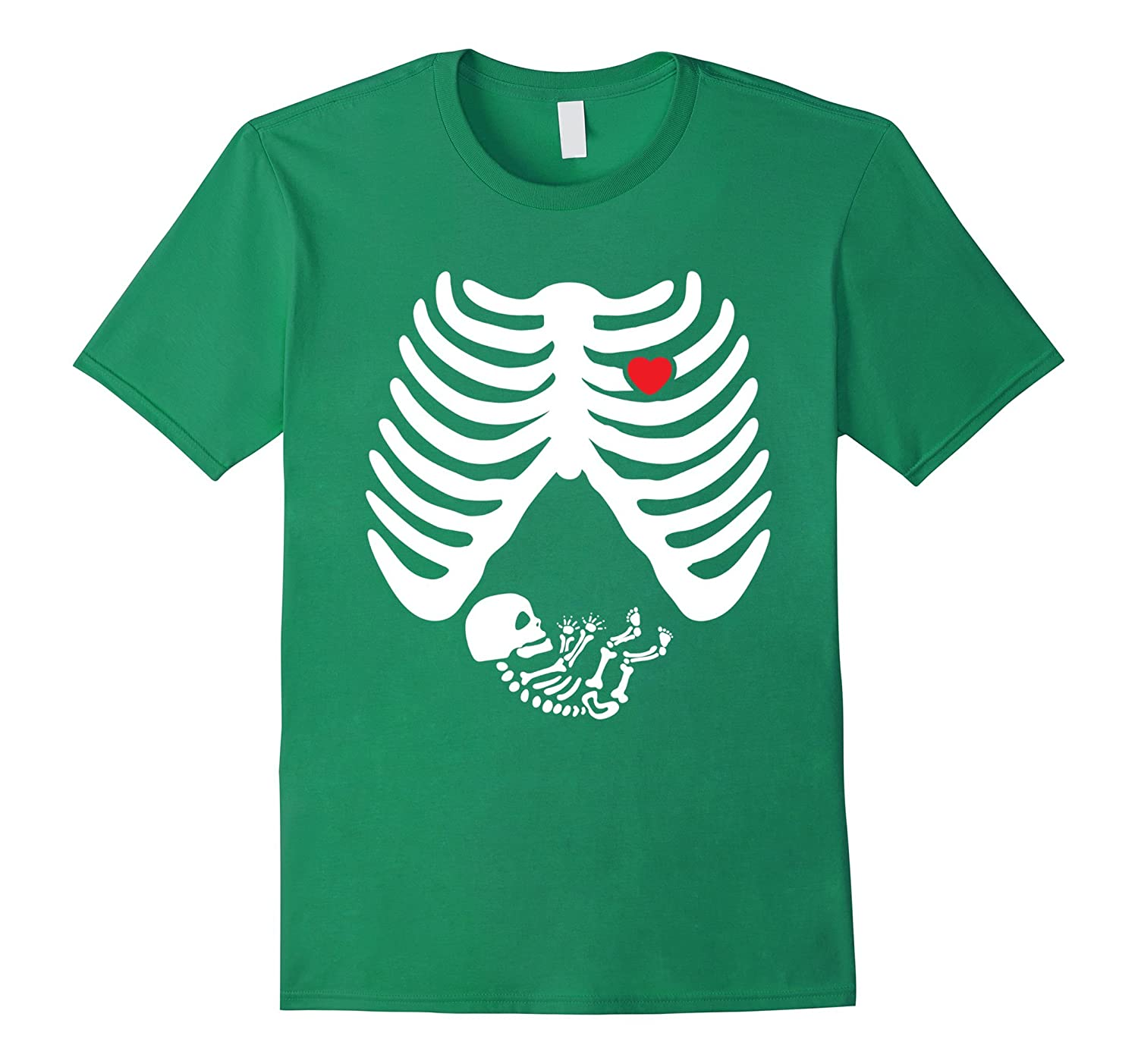 'Pregnant Skeleton Baby' Cute Maternity Halloween Shirt