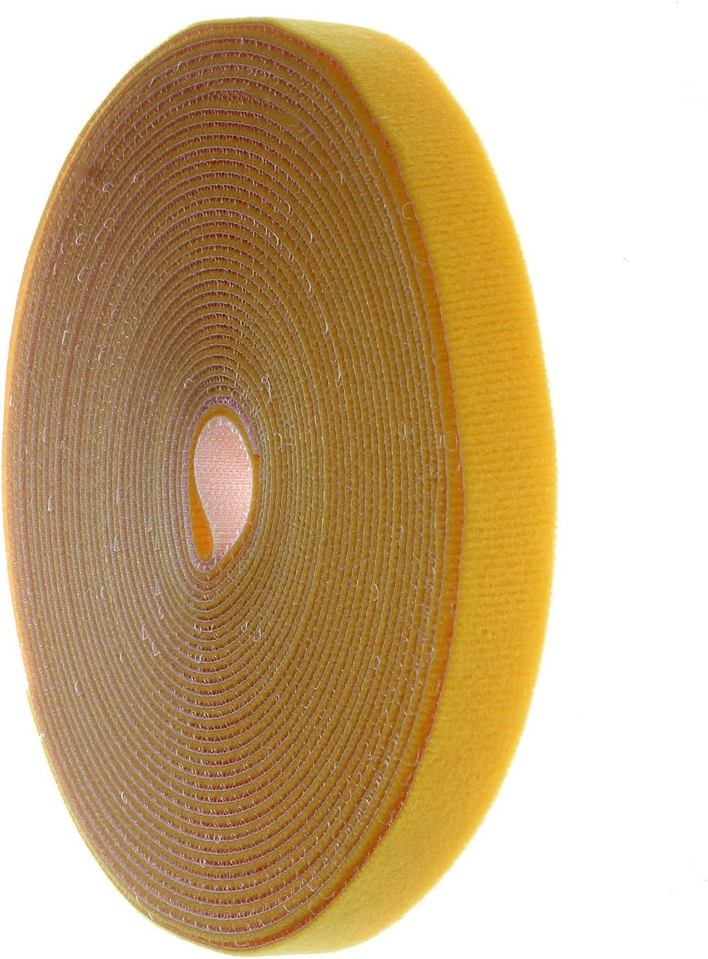 kxb5010/White HIMRY 15/m Cinta De Velcro para Cable 15/m x 20/mm Libre de Cable Manager Presilla Velcro Banda se Puede Cortar Blanco