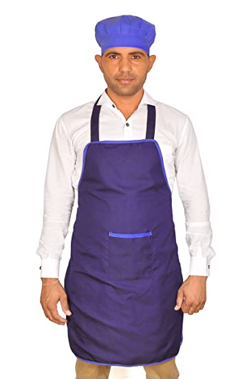 Switchon polyester Waterproof Apron with cap – (Blue)