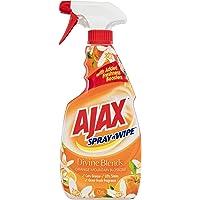 Ajax Spray n' Wipe Divine Blends Multi-Purpose Kitchen and Bathroom Household Grade Cleaner Trigger Surface Spray Orange…