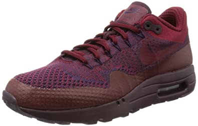 76343bcc4dee Nike Mens Air Max 1 Ultra Flyknit Knit Low Top Athletic Shoes Red 8.5  Medium (