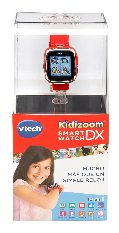 VTech- Reloj multifunción Kidizoom Smart Watch DX, Color Rojo (3480-171627)
