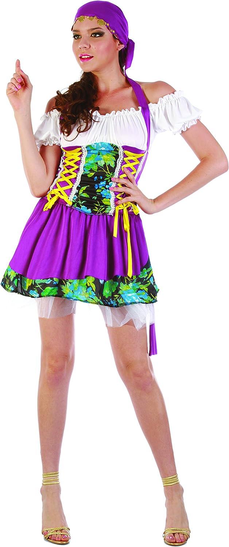 FIORI PAOLO – Gitana Gipsy disfraz mujer adulto Womens, multicolor ...