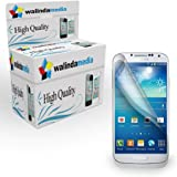 2x Schutzfolie Samsung Galaxy S4 i9500 Screen Protector Display Schutz Folie Anti-Fingerprint Anti-reflex Clear Klar Galaxy + Microfaser-Putztuch Walindamedia Premium Displayschutfolie