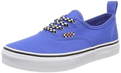 Vans Unisex-Kinder Authentic Elastic Lace Sneaker, Blau (Check Lace), 36.5 EU