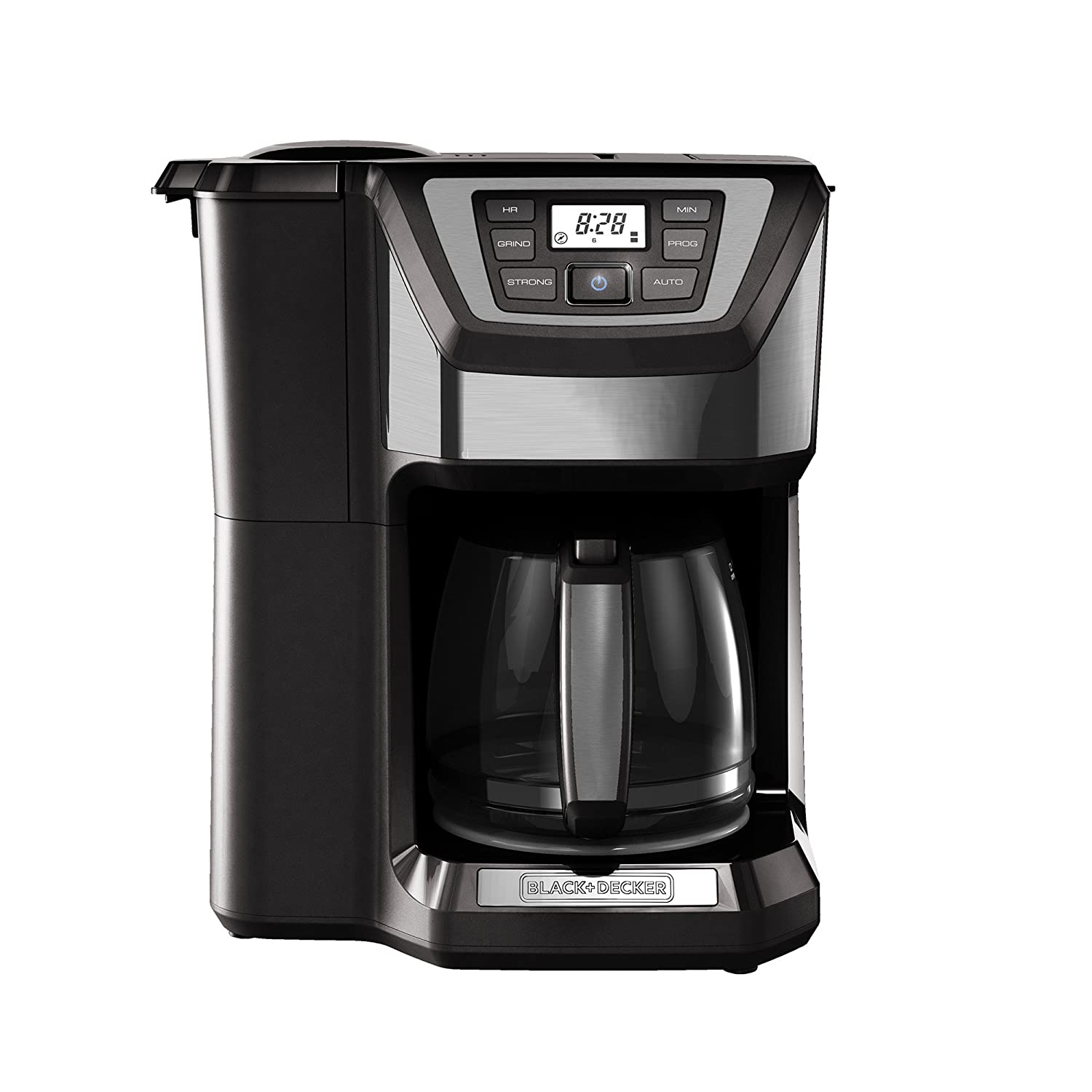 Black and decker coffee maker 12 cup programmable - Amazon Com Black Decker Cm5000gd 12 Cup Mill And Brew Coffee Maker Black Grey Kitchen Dining