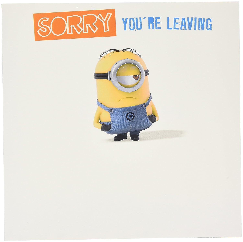 Despicable Me Minion Sorry You're Leaving Large Card Danilo Promotions DE054