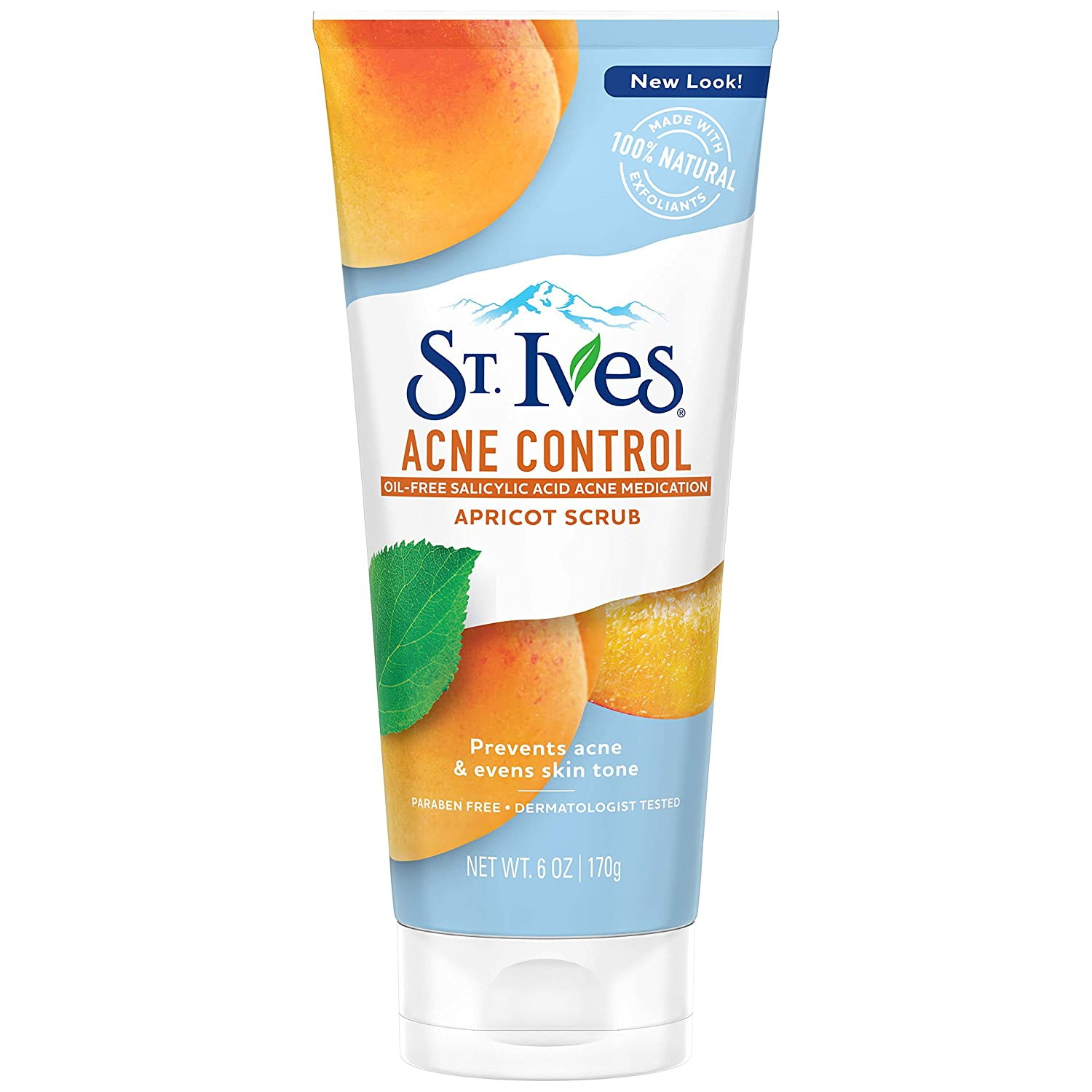 St. Ives Acne Control Face Scrub, Apricot, 6 oz (Pack of 6)