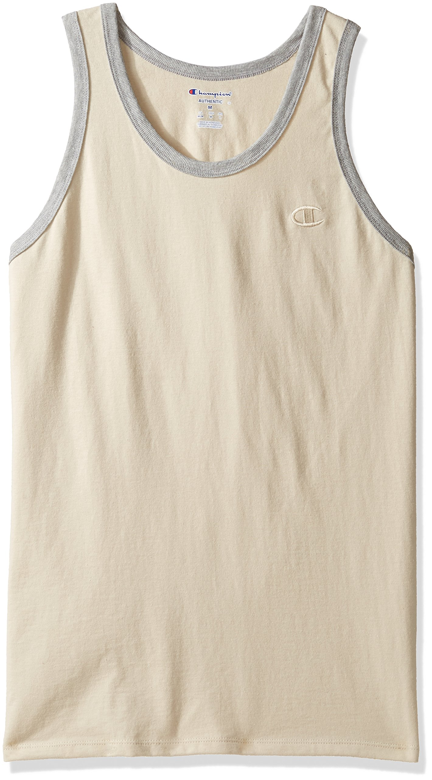 Champion Mens Classic Jersey Ringer Tank Top Puddy Sand Oxford 02 Kaos Bola Distro Gray Heather