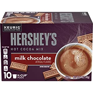 Hershey's Milk Chocolate Hot Cocoa Keurig K Cup Pods, 10 ct - K-cups, 5.15 oz Box