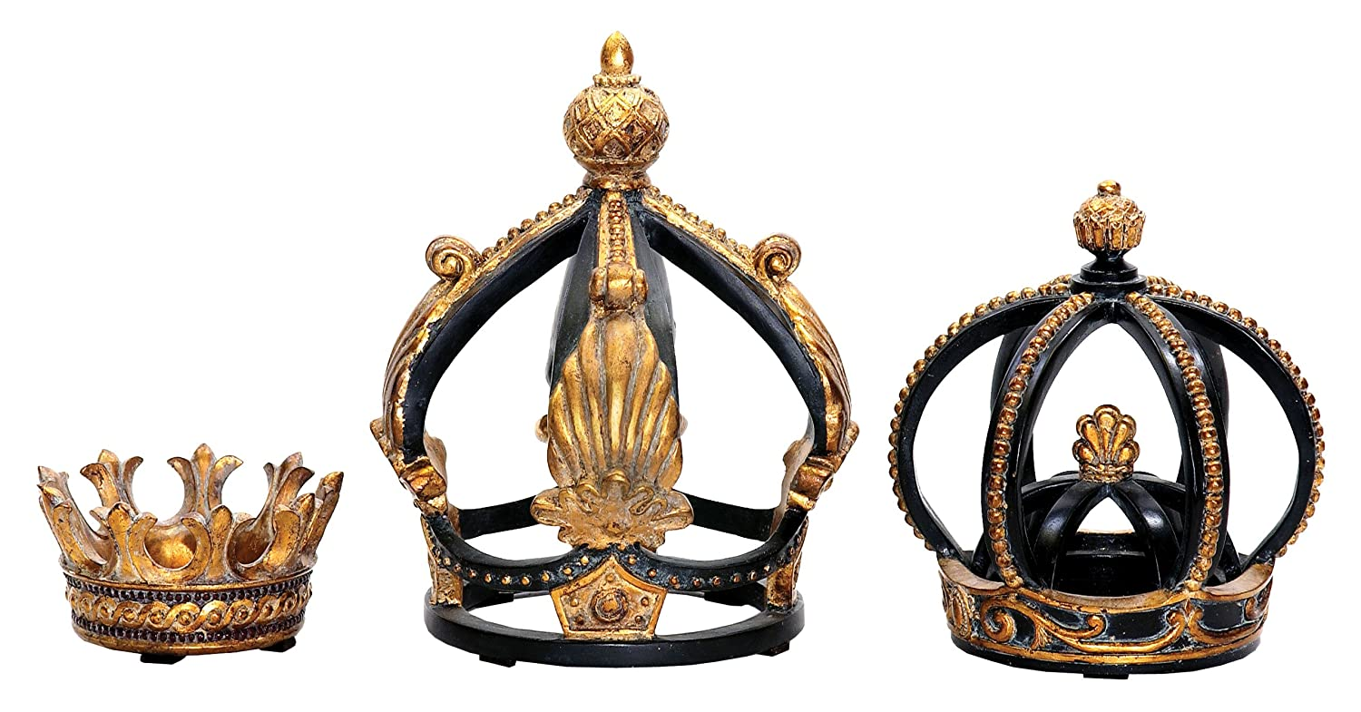 amazon com sterling home 91 0013 decorative crowns set of 3 amazon com sterling home 91 0013 decorative crowns set of 3 assorted sizes home kitchen
